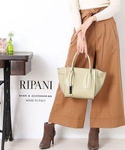 RIPANI イタリア製サフィアーノレザーバッグ
