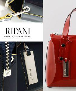 ripani イタリア製  エナメルレザーバッグ