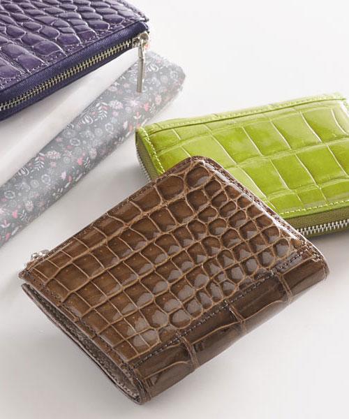 クロコダイルコンパクト財布
