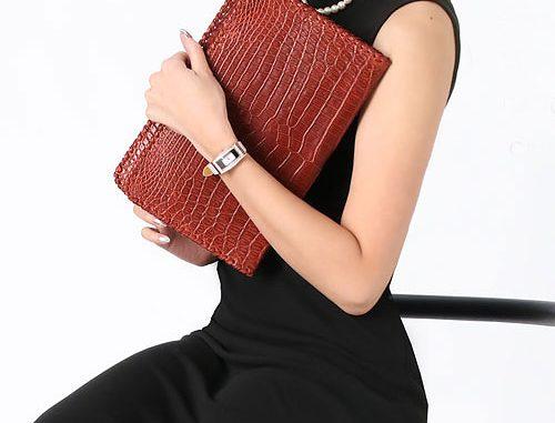 ヘンローン社製原皮使用 クロコダイル クラッチバッグ
