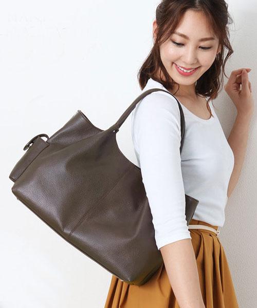 [Jamale]ジャマレ 牛革 2WAY バッグ 日本製 ハンドバッグ カウレザー