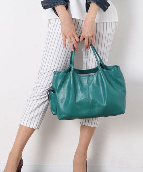 [Jamale]ジャマレ 牛革 2WAY バッグ 日本製 ハンドバッグ カウレザー A4対応