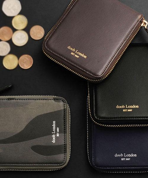 [doob London] ドゥーブロンドン 本革 ラウンドファスナー 折り財布