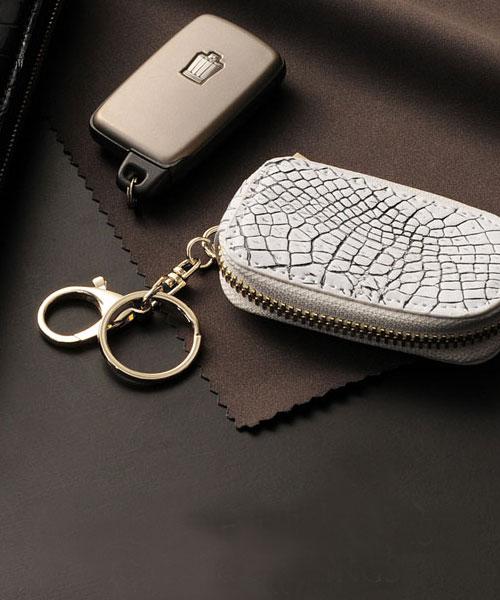 ヘンローン社製原皮使用 クロコダイル スマートキーケース