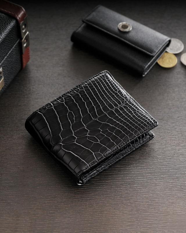 アリゲーター 折り財布 無双 マット加工