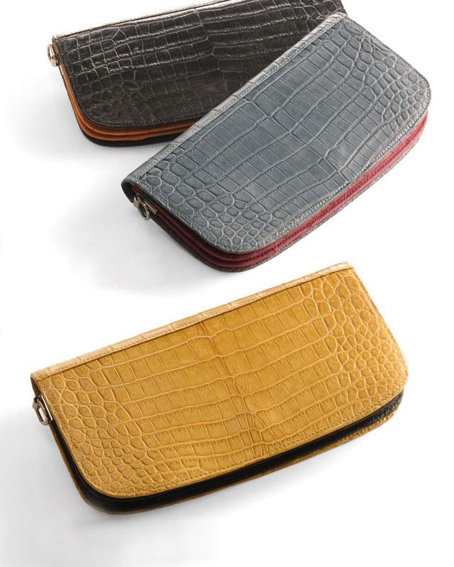 HALEINE/アレンヌ クロコダイル & オーストリッチ 2Way バイカラー お財布バッグ