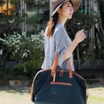 HALEINE/アレンヌ 日本製 ナイロン&栃木レザー ボストン バッグ