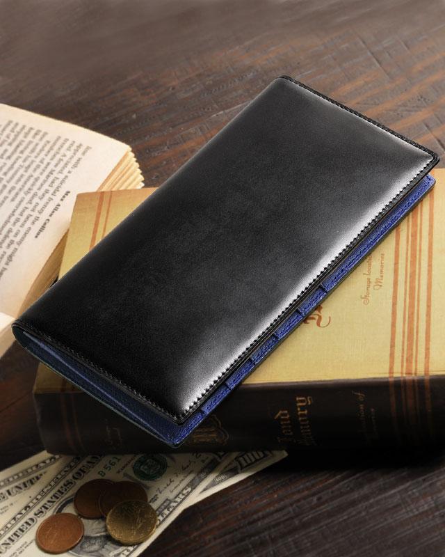 PRAIRIE/プレリー コードバン 二つ折り長財布 小銭入れ付き