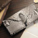 【会員限定価格】天然素材の美しさをその手に。パイソン財布2型
