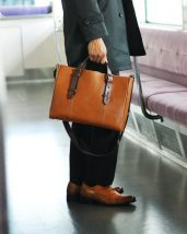 HALEINE/アレンヌ 日本製 牛革 ビジネスバッグ