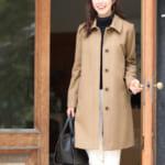 カシミヤブレンド ステンカラー コート