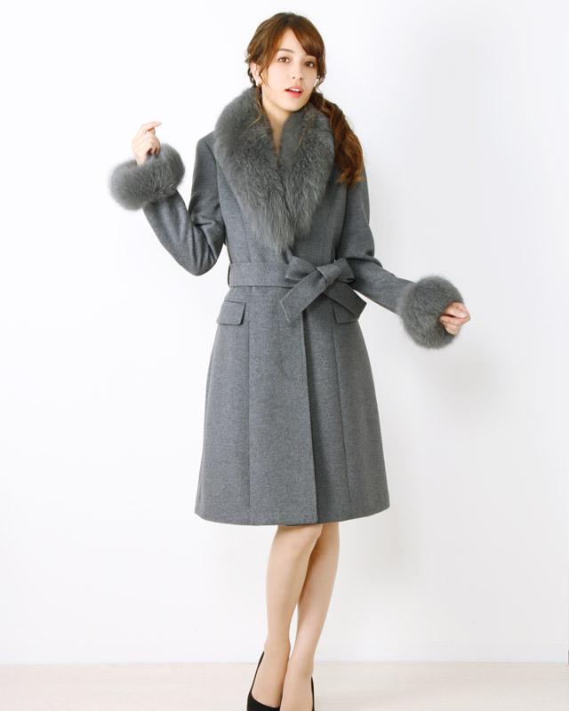 Filomo カシミヤ ブレンド ウール ロング コート