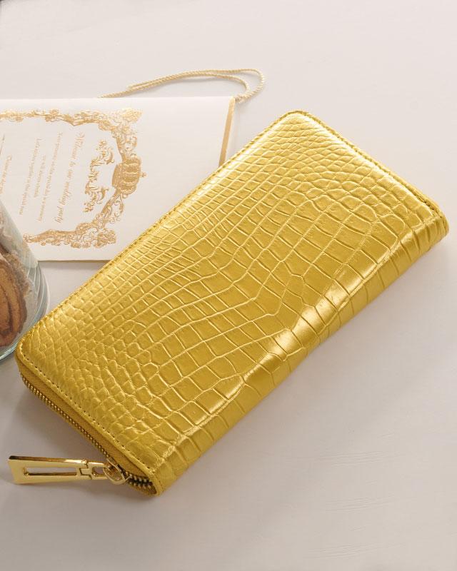ヘンローン社製原皮使用 クロコダイル 長財布