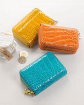 クロコダイル Wファスナー コンパクト財布