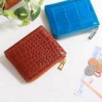 クロコダイル ミニ財布 レディース
