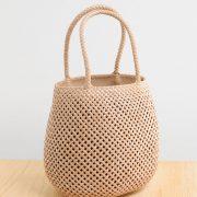 夏は可愛いかごバッグ涼しげな編み込みデザイン本革スネーク使用