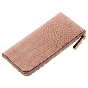 牛革 クロコダイル型推し 長財布