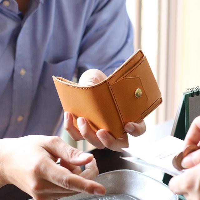 ヌメ革 日本製 ミニ財布
