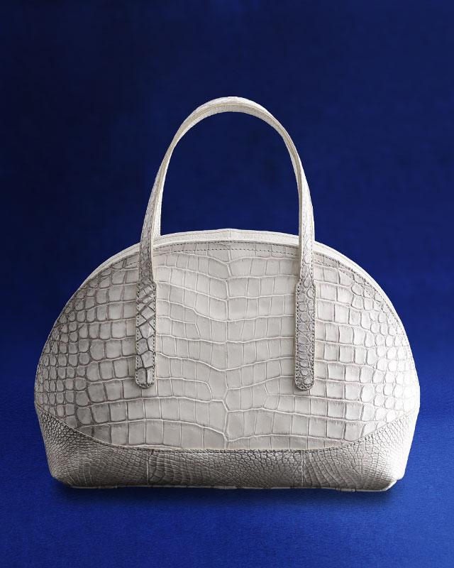 ヒマラヤ クロコダイルハンドバッグ