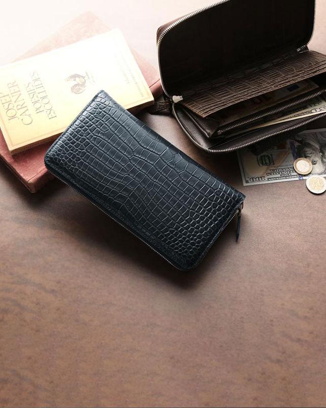 スモールクロコダイル メンズ長財布
