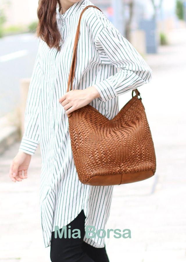 編み込みバッグ レディースバッグ