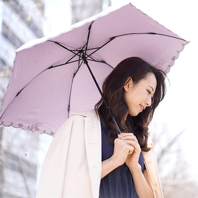 日傘 マスク 紫外線対策 遮光 UVカット 晴雨兼用 2段式 バイカラー 折りたたみ